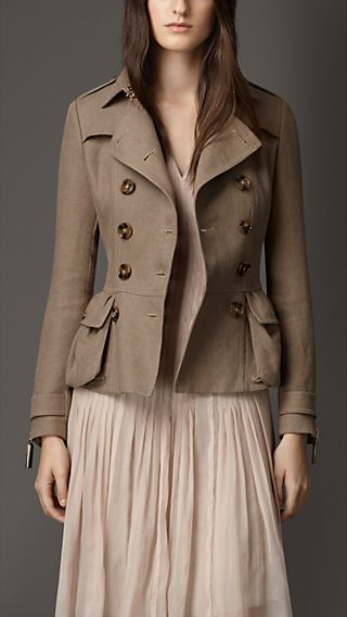 Linen Trench Jacket