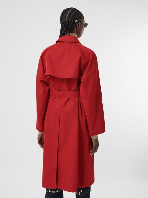 Tropical Gabardine Belted Car Coat in Dark Carmine - Women | Burberry - cell image 2