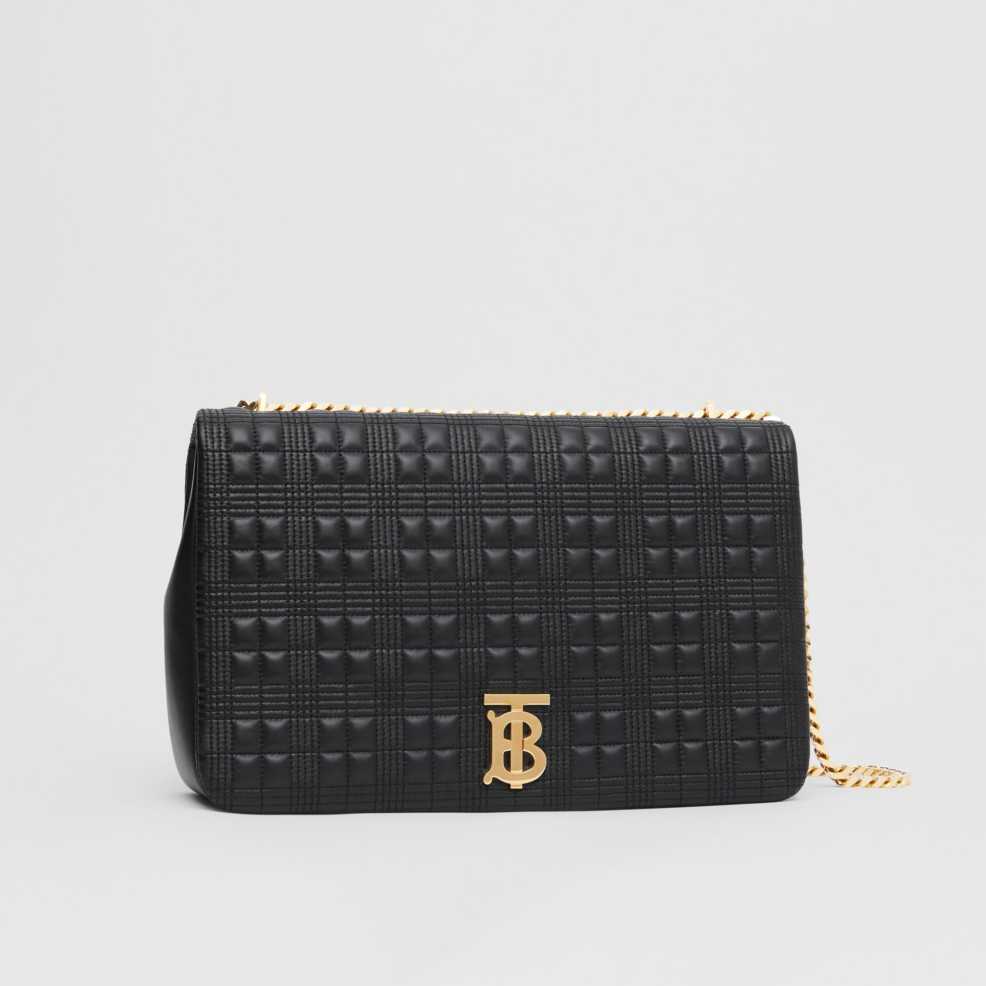 Extra Large Quilted Lambskin Lola Bag in Black - Women | Burberry - gallery image 6