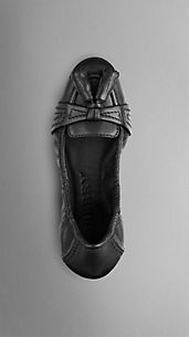 Leather Tassel Ballerinas
