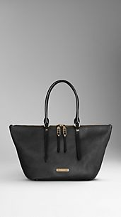 Small Grainy Leather Tote Bag