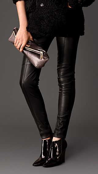 Skinny Fit Leather Leggings
