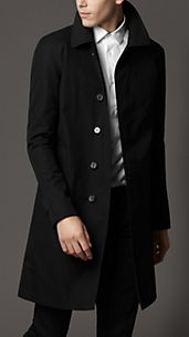 Mid-Length Cotton Gabardine Car Coat