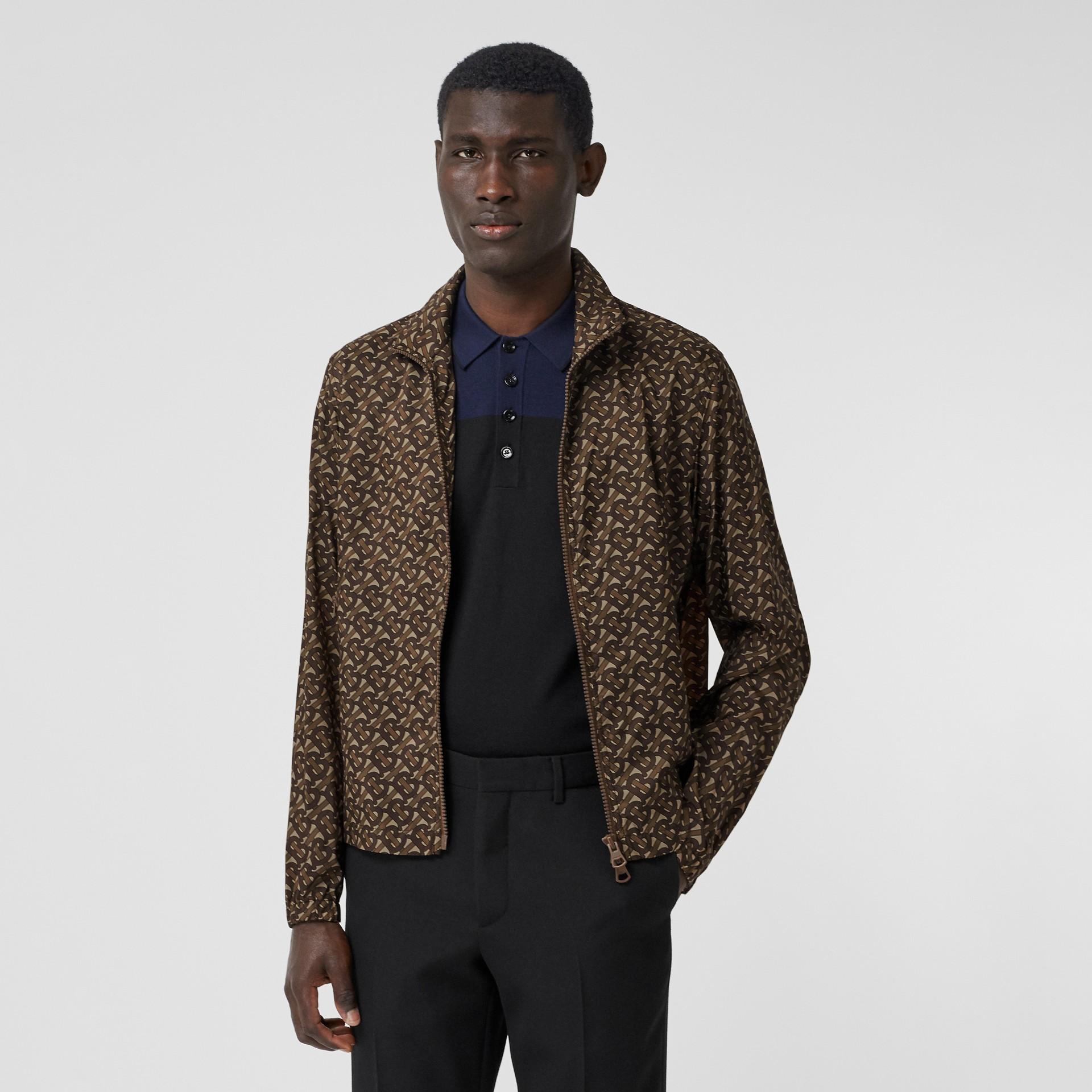 Cotton Harrington Jacket with Detachable Warmer in Honey - Men | Burberry - gallery image 5