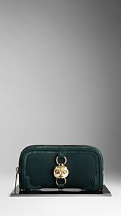 Country Animal Suede Nubuck Clutch Bag