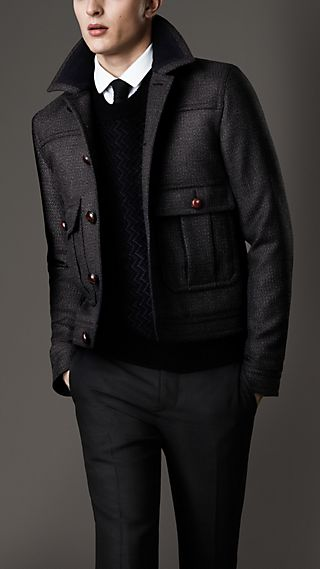 Virgin Wool Tweed Blouson