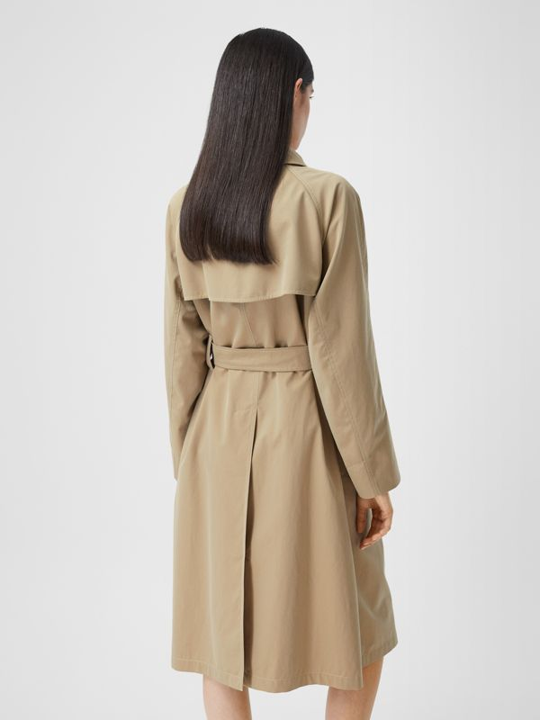 Tropical Gabardine Belted Car Coat in Honey - Women | Burberry - cell image 2