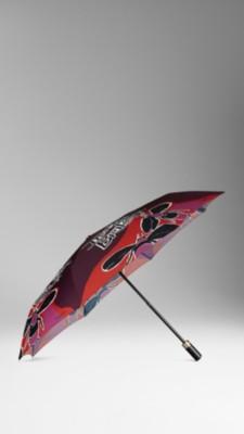 手绘书封折叠雨伞