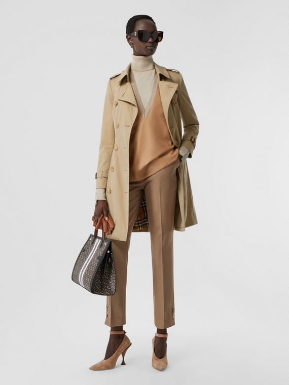 The Mid-length Chelsea Heritage Trench Coat in Honey