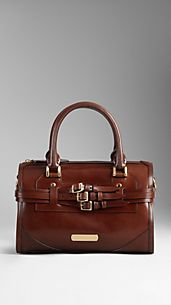 Medium Bridle Leather Bowling Bag