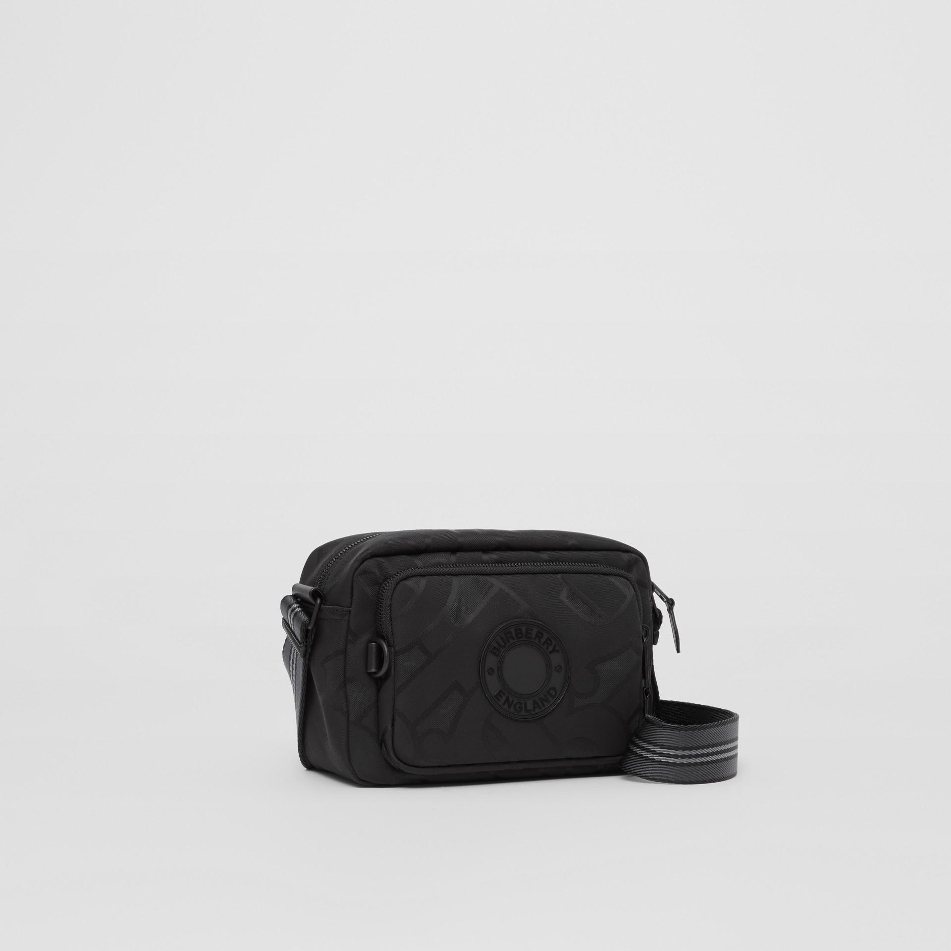 Monogram Recycled Polyester Crossbody Bag in Black - Men   Burberry United Kingdom - gallery image 4
