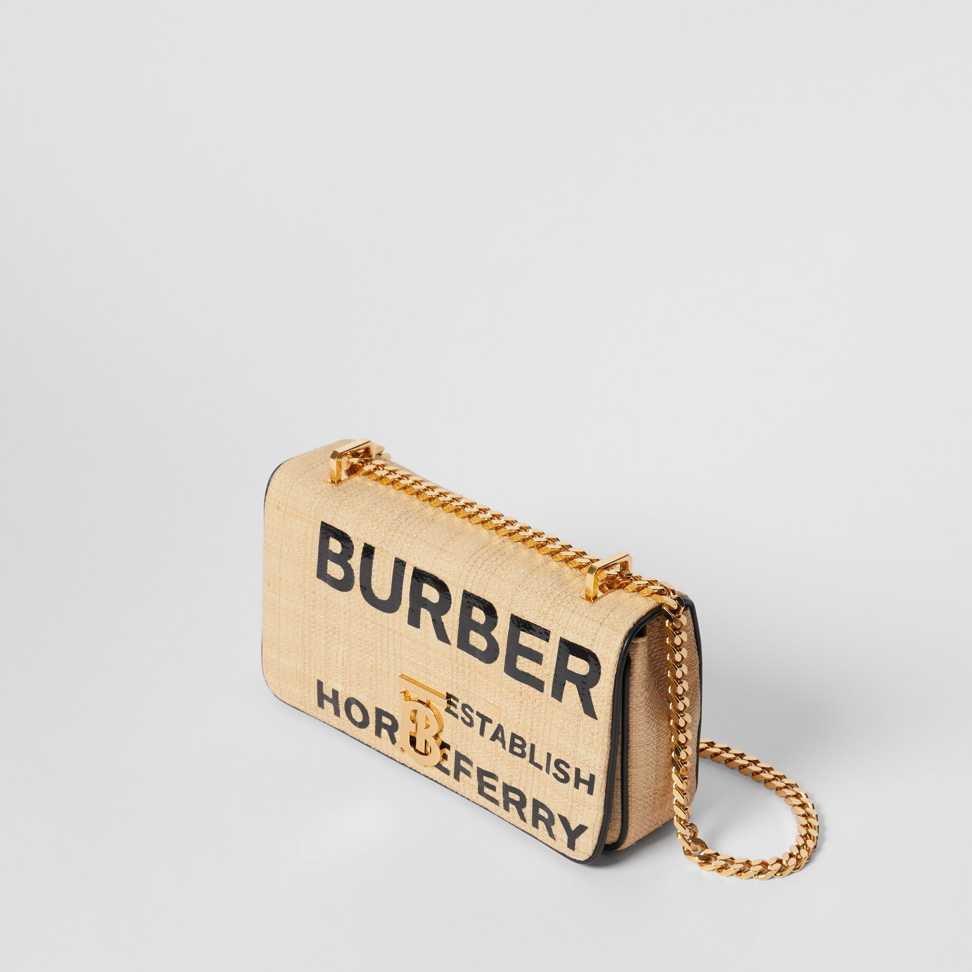Small Horseferry Print Quilted Raffia Lola Bag - Women | Burberry - gallery image 3