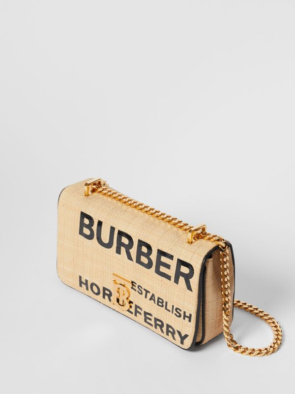 Small Horseferry Print Quilted Raffia Lola Bag - Women | Burberry Hong Kong S.A.R. - cell image 3