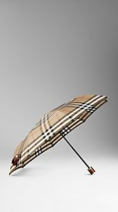Parapluie repliable en check