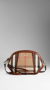 Bolso Mini Orchard de checks House en cuero engrasado