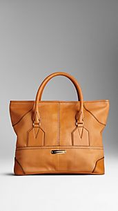 Medium Lizard Leather Tote Bag
