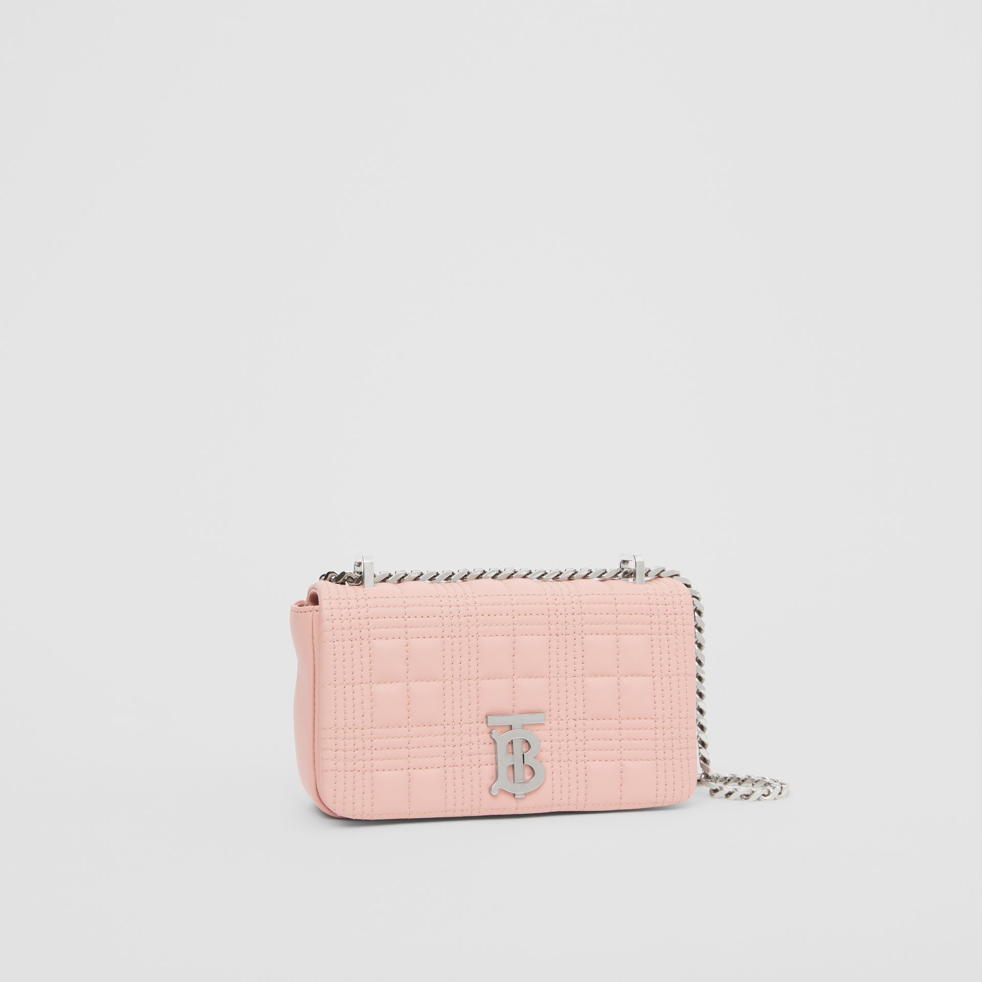 Mini Quilted Lambskin Lola Bag in Blush Pink - Women | Burberry - gallery image 6