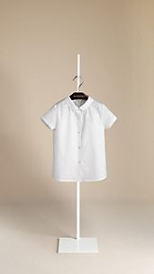 Round Collar Cotton Shirt