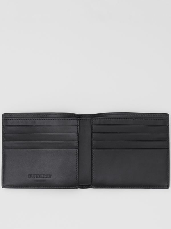 Logo and Icon Stripe Print International Bifold Wallet in Black | Burberry United States - cell image 2