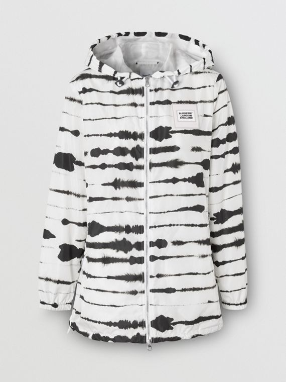 Watercolour Print ECONYL® Hooded Parka