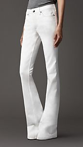 Harwood White Rinse Flared Jeans