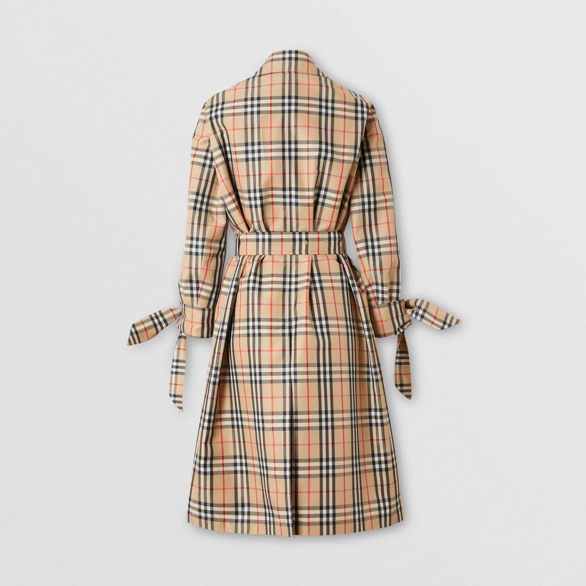 Vintage Check Recycled Polyester Car Coat - Women | Burberry Singapore - gallery image 8