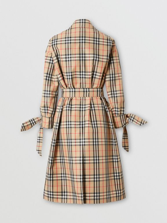 Vintage Check Recycled Polyester Car Coat - Women | Burberry United Kingdom - cell image 1