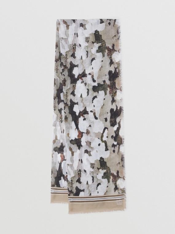 Leichter Seiden-Woll-Schal mit Camouflage-Muster (Mehrfarbig)