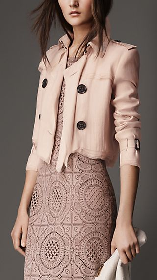 Cropped Silk Organza Jacket