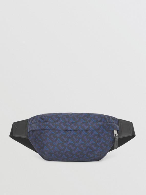 Monogram Print ECONYL® Sonny Bum Bag in Deep Royal Blue