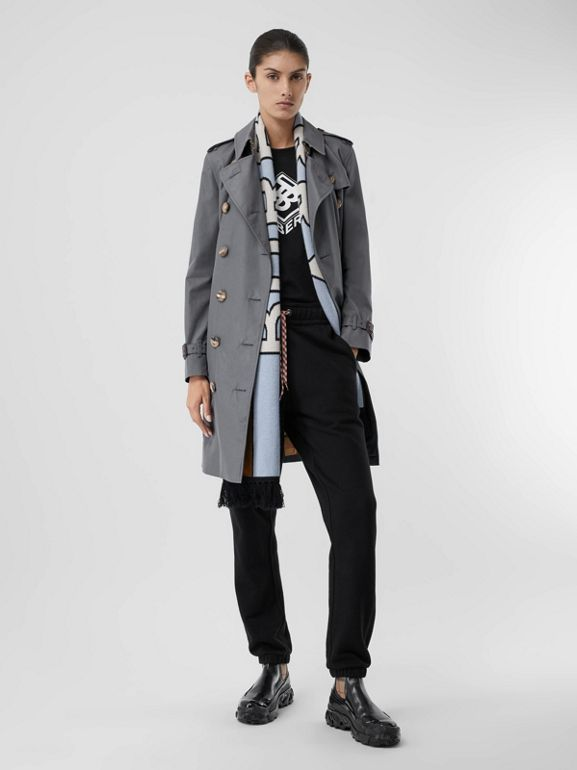 The Mid-length Kensington Heritage Trench Coat in Grey - Women | Burberry - cell image 1