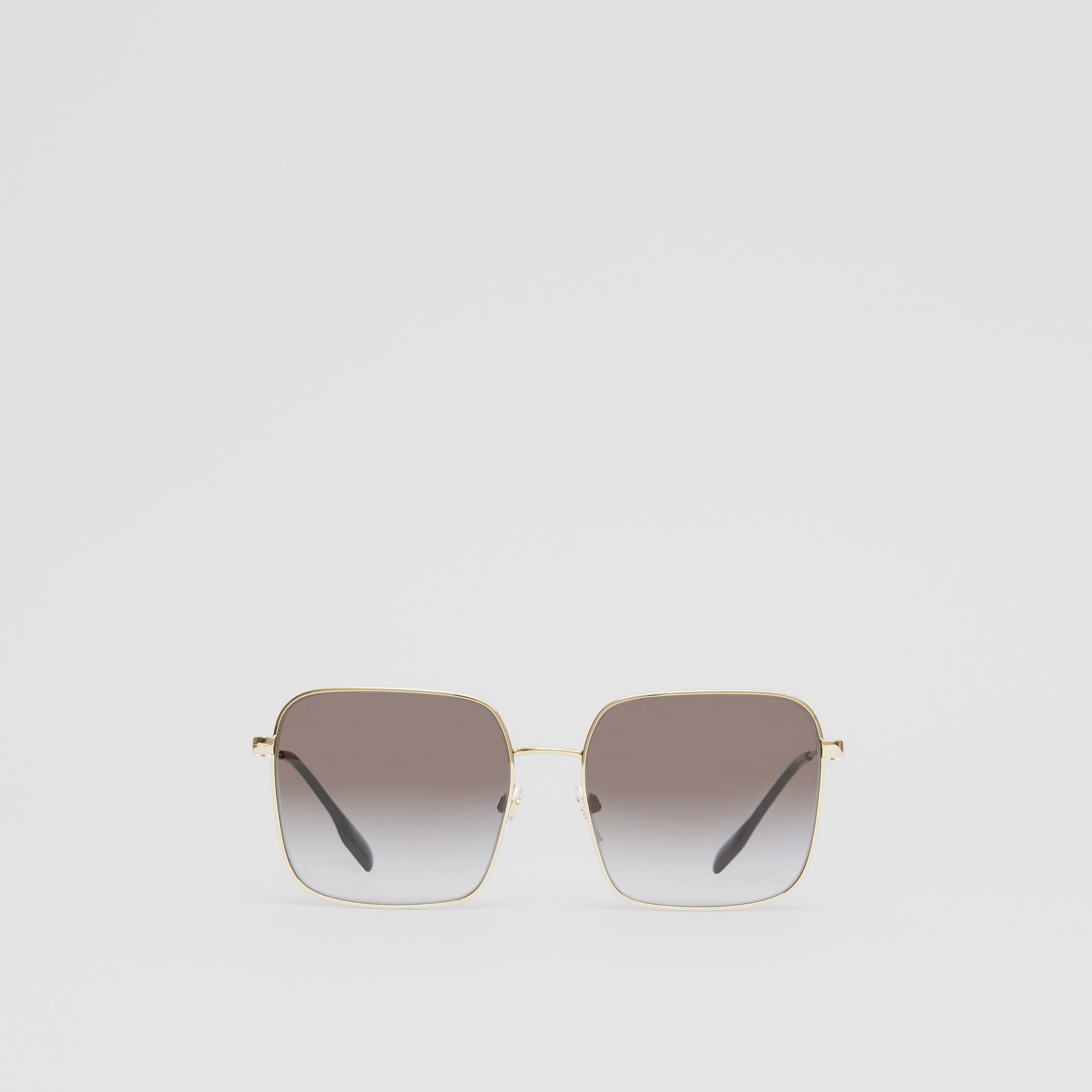 Oversized Square Frame Sunglasses in Black - Women | Burberry - gallery image 0