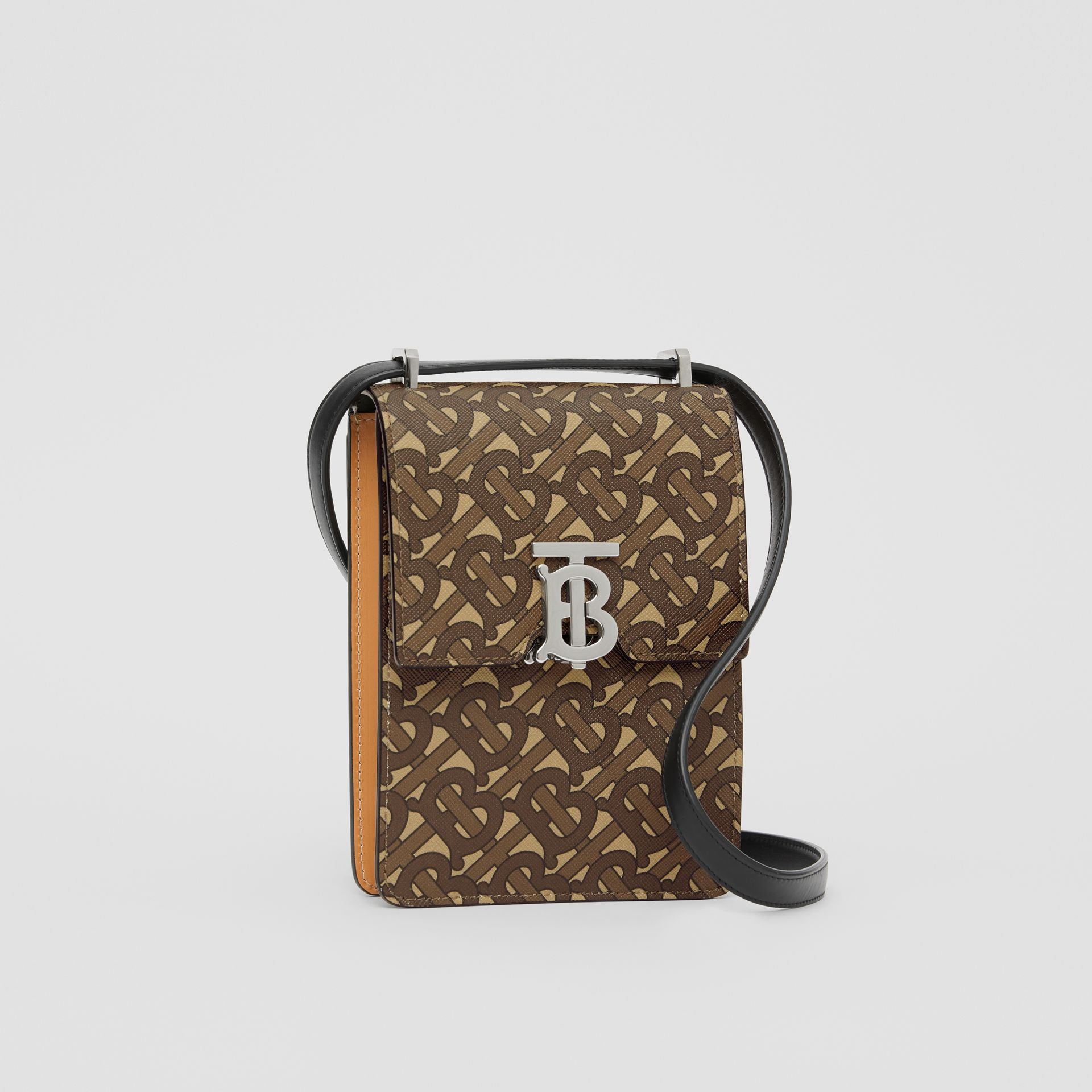 Monogram Print E-canvas Robin Bag in Bridle Brown | Burberry - gallery image 8