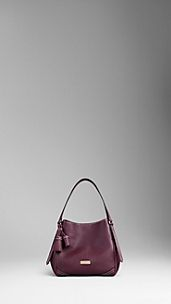 Small Leather Saddlestitch Tote Bag