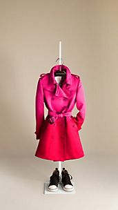 Dégradé Silk Satin Trench Coat