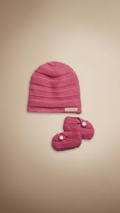 Knitted Hat and Booties Set