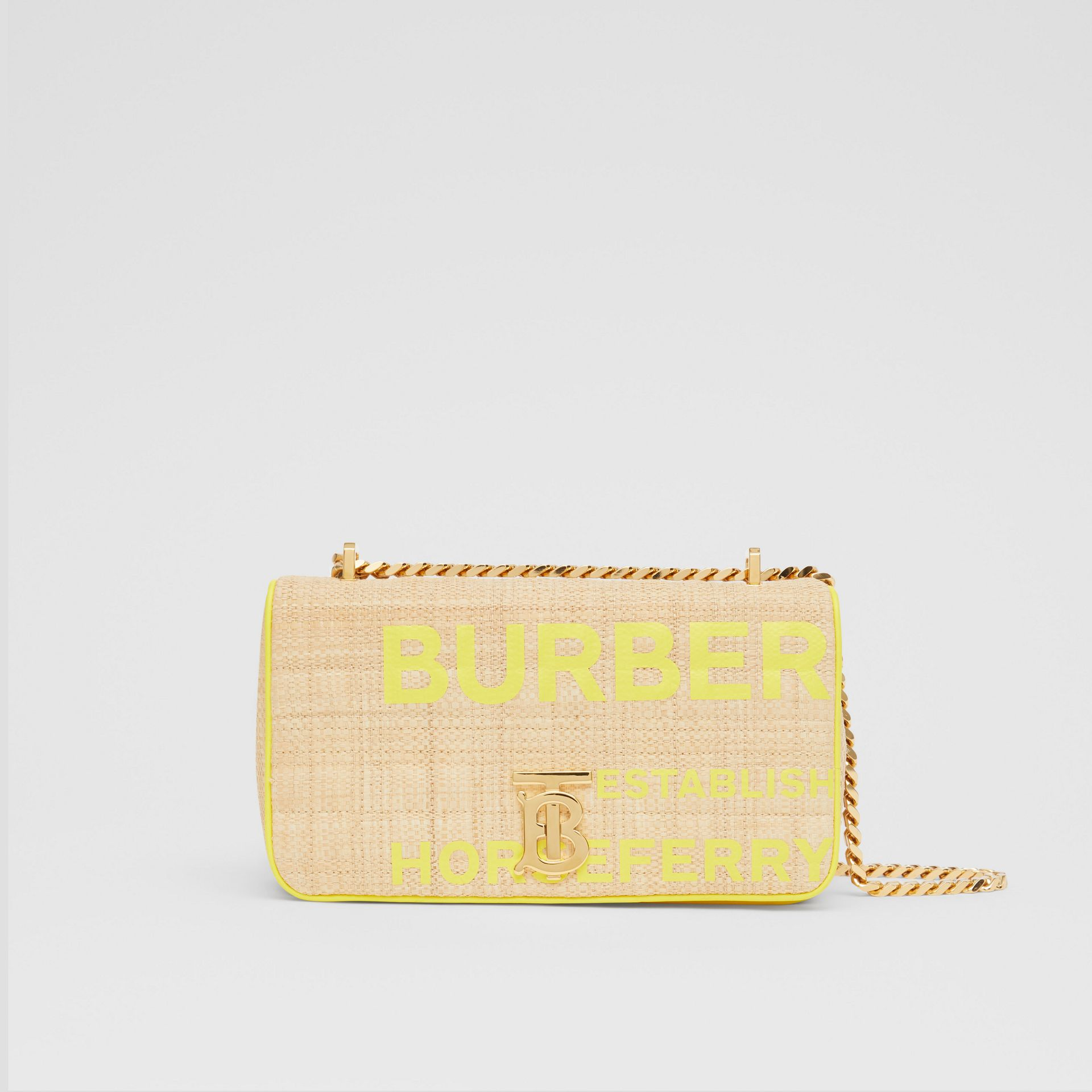 Small Horseferry Print Quilted Raffia Lola Bag - Women | Burberry - gallery image 0