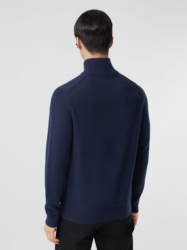 Monogram Motif Cashmere Funnel Neck Sweater in Navy - Men | Burberry - cell image 2