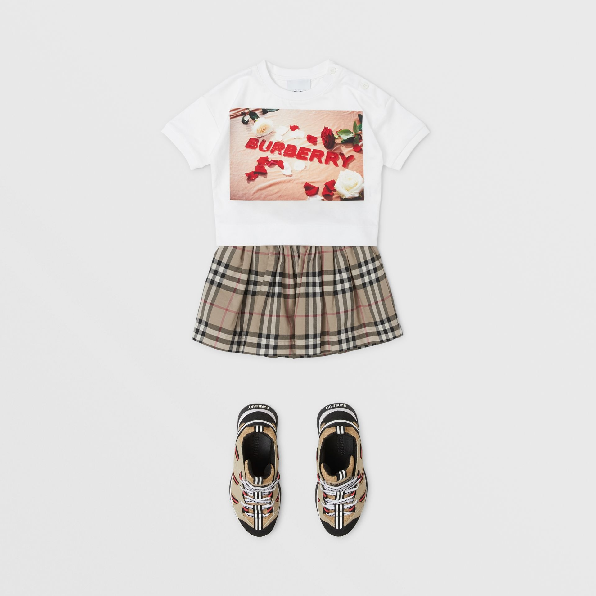 Confectionery Print Cotton T-shirt in White - Children | Burberry Canada - gallery image 2