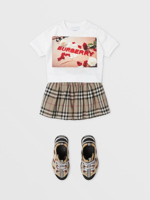 Confectionery Print Cotton T-shirt in White - Children | Burberry Canada - cell image 2
