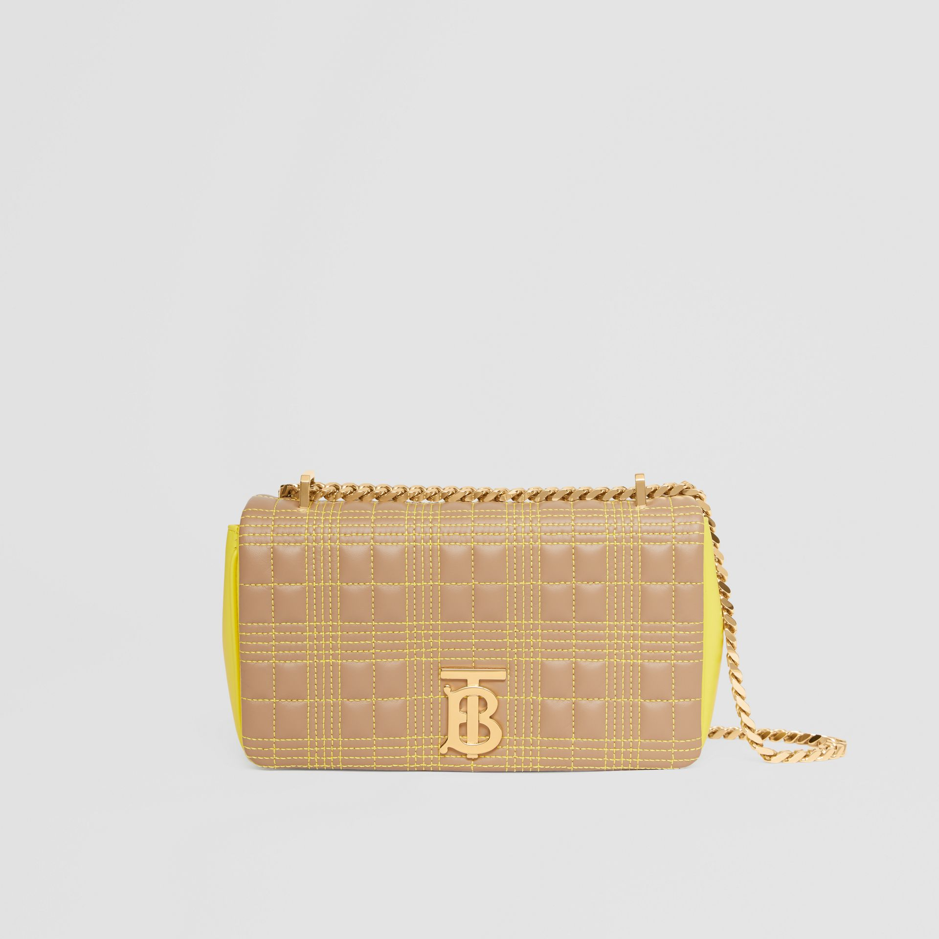 Small Quilted Tri-tone Lambskin Lola Bag in Camel/yellow - Women | Burberry - gallery image 0