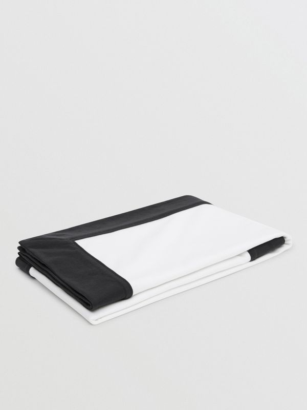 ロゴプリント オーガニックコットン ベイビーブランケット (ホワイト) - チルドレンズ | バーバリー - cell image 2