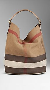 Sac hobo medium en toile en check