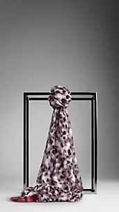 Layered Chalk Dot Silk Scarf