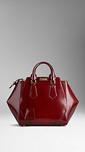 Medium Polished Leather Tote Bag