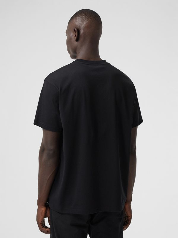 Kaleidoscope Print Cotton Oversized T-shirt in Black - Men | Burberry Hong Kong S.A.R. - cell image 2