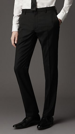 Modern Fit Virgin Wool Trousers