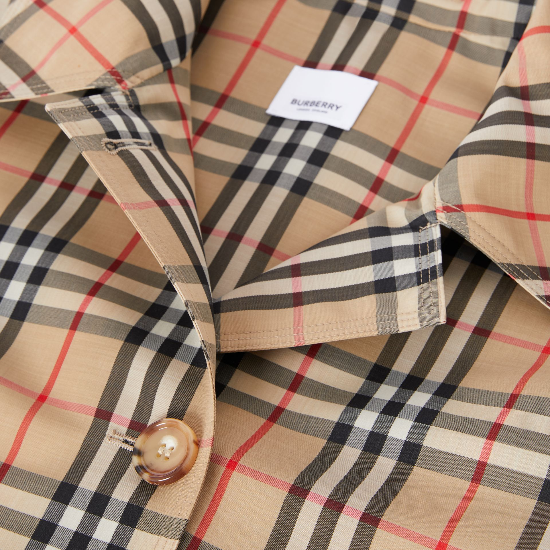 Vintage Check Recycled Polyester Car Coat - Women | Burberry - gallery image 9