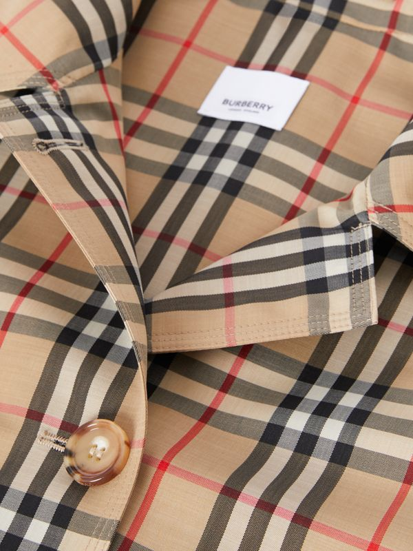 Vintage Check Recycled Polyester Car Coat - Women | Burberry United Kingdom - cell image 2