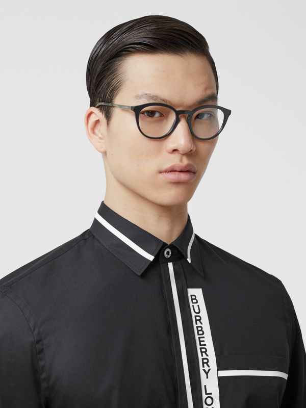 Round Optical Frames in Black - Men | Burberry - cell image 2